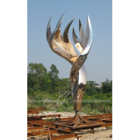 Stainless Steel Flame Sculpture